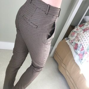Brown Checkered Pant